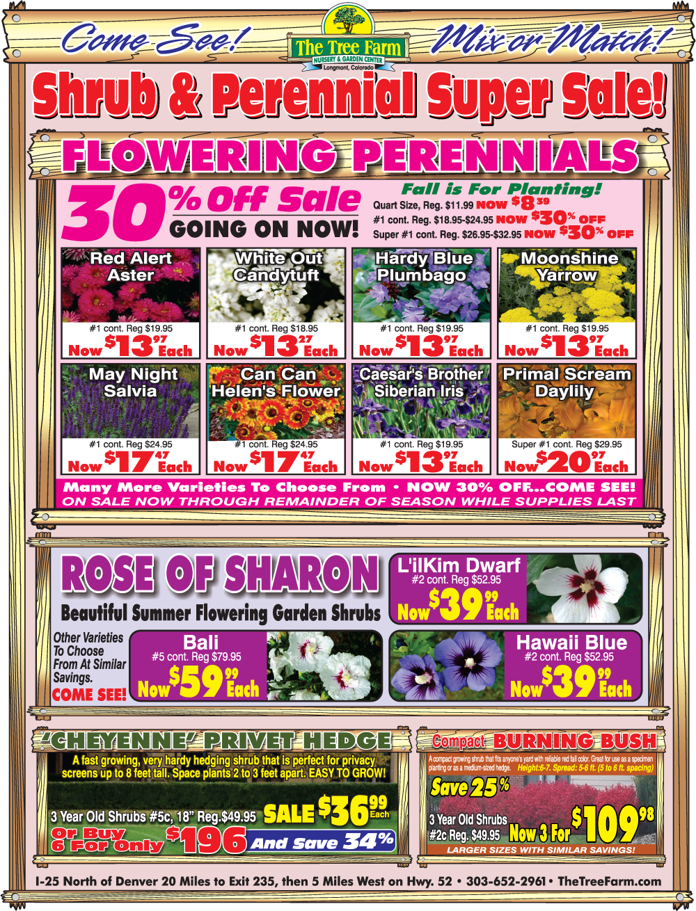 Shrubs & Perennials Super Sale 2017